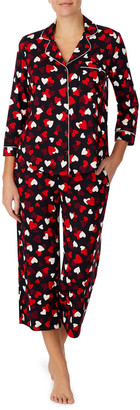 Kate Spade Cropped Printed Jersey Pajama Set