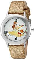Disney Girl's 'Beauty and Beast' Quartz Stainless Steel and Leather Watch
