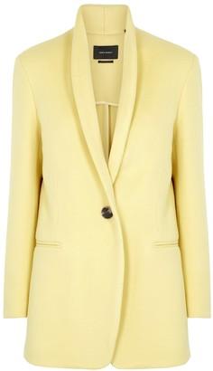 Isabel Marant Felicie pale yellow wool-blend jacket