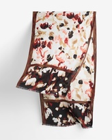 White House Black Market Abstract Floral Oblong Scarf