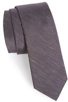 The Tie Bar Men's Pinstripe Silk & Linen Tie