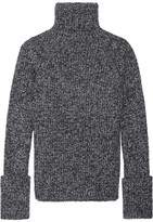 Joseph Mélange Wool-blend Turtleneck Sweater - Gray