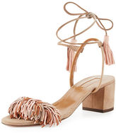 Aquazzura Wild Thing Suede 50mm Sandal