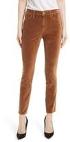 Frame Women's Velveteen High Waist Skinny Pants