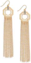 Thalia Sodi Gold-Tone Pavé Octagon & Chain Fringe Drop Earrings, Created for Macy's