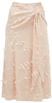 Peter Pilotto Fil-coupe Satin-jacquard Midi Skirt - Cream