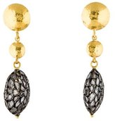Gurhan Spell Diamond Slice Drop Earrings