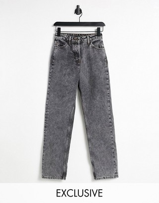 Collusion x005 straight leg jeans in washed black