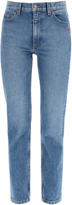 Marc Jacobs Lip Patch High-Waisted Jeans