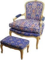 One Kings Lane Vintage W. & J. Sloane Fauteuil and Ottoman
