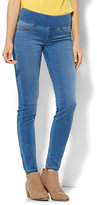 New York & Co. Soho Jeans - Ankle SuperStretch Legging - Pull-On - Waterfall Blue Wash