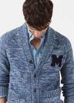 MANGO MAN Flecked Cotton-Blend Cardigan