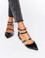 Faith Triple Strap Flat Shoes