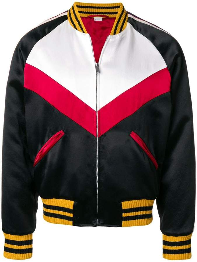 Gucci panelled bomber jacket