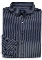 Giorgio Armani Striped Silk-Blend Dress Shirt