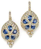 Temple St. Clair 18K Gold Sea Biscuit Earrings with Blue Sapphire and Diamonds