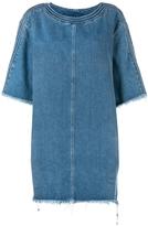 Chloé Shredded Hem Denim Dress