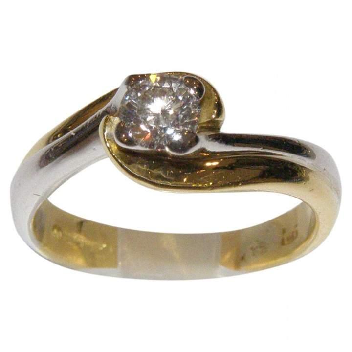 Salvini Vintage White Yellow gold Ring