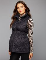 A Pea in the Pod Quilted Puffer Cotton Woven Maternity Vest
