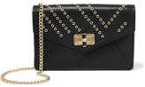 Diane von Furstenberg 440 Gallery Bitsy Embellished Leather Shoulder Bag - Black
