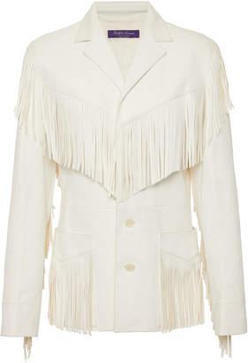 Ralph Lauren Bryleigh Fringed Leather Jacket