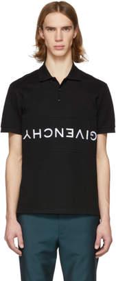 Givenchy Black Reverse Logo Polo