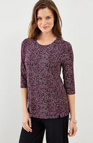 J. Jill Wearever Printed Split-Hem Top