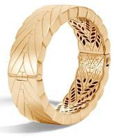 John Hardy Modern Chain Large 18K Gold Hinged Bangle
