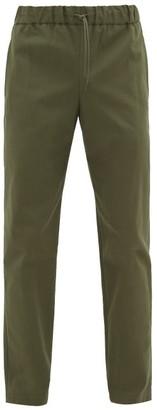 A.P.C. Kaplan Drawstring-waist Cotton-twill Chinos - Mens - Khaki