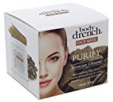 Body Drench Face Mask Purify Moroccan Ghassoul 4 Ounce Jar (120ml) (3 Pack)