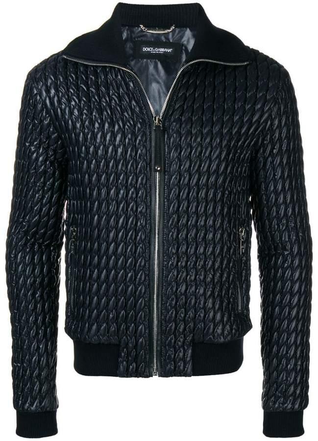 Dolce & Gabbana padded leather jacket