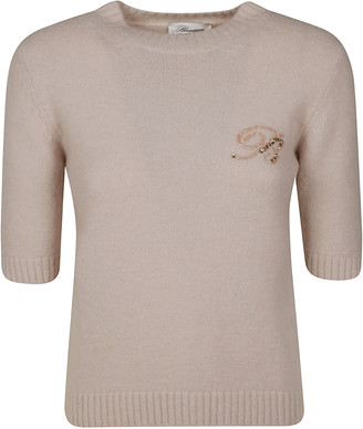 Blumarine Embellished Cropped Jumper