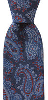 Roundtree & Yorke Trademark Soft Paisley Narrow Cotton Tie