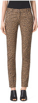 Michael Kors Animal-Print Cotton-Sateen Trousers