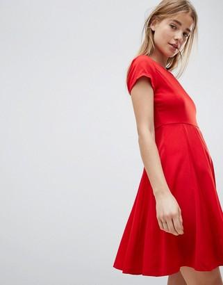 Louche Skater Dress-Red