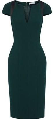 Amanda Wakeley Satin-trimmed Cady Dress