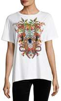 Etro Embroidered Jungle Graphic T-Shirt with Tassels