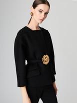 Oscar de la Renta Bonded Sponge Wool-Blend Jacket