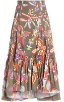 Peter Pilotto Printed Cotton-Blend Midi Skirt
