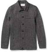 Oliver Spencer Slim-fit Houndstooth Wool Portobello Jacket - Charcoal
