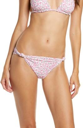 Frankie's Bikinis Monica Butterfly Print Knot Bikini Bottoms