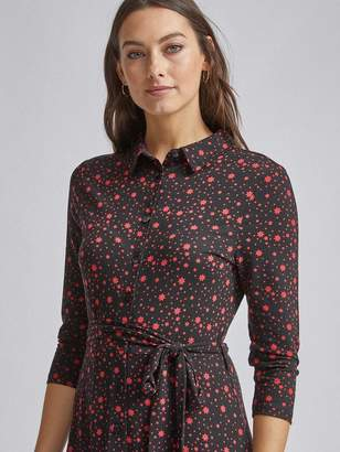 Dorothy Perkins Star Midi Jersey Shirt Dress - Black