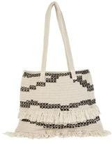 Billabong Beach Comber Crochet Tote - White