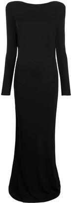 Elisabetta Franchi Black Evening Dress