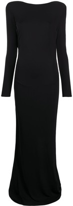 Elisabetta Franchi Open-Back Long Dress