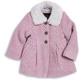 Jessica Simpson Faux Fur Trim Tweed Coat