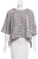 Yigal Azrouel Oversize Leather-Trimmed Sweater