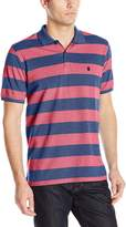 Izod Men's Short Sleeve Newport Oxford Stripe Polo