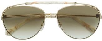 Chloé Double Nose Bridge Aviator Sunglasses