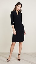 Norma Kamali Long Sleeve Side Draped Dress